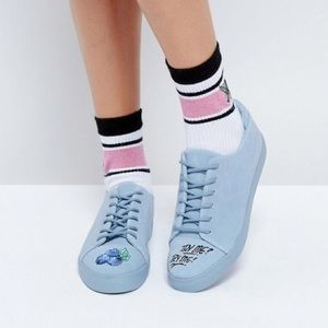 ASOS Blue Suede Sneakers Size 7